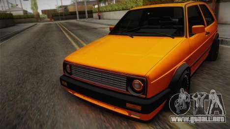 Volkswagen Golf Mk2 GTI .ILchE STYLE. para visión interna GTA San Andreas