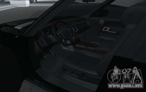 Land Rover Range Rover Vogue para visión interna GTA San Andreas