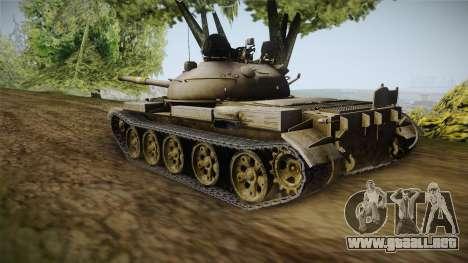 T-62 Desert Camo v1 para GTA San Andreas vista posterior izquierda
