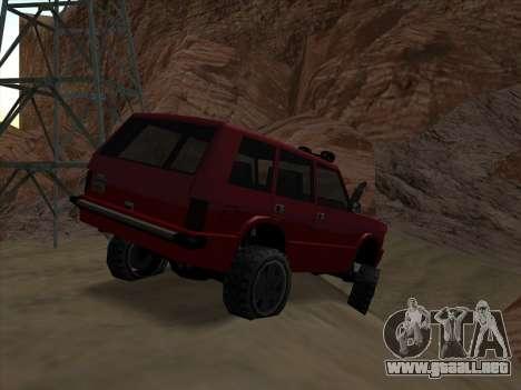 Huntley Offroad para GTA San Andreas vista posterior izquierda