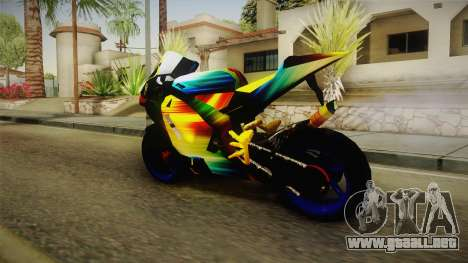 Rainbow Motorcycle para GTA San Andreas left