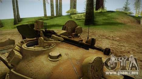 T-62 Desert Camo v3 para GTA San Andreas vista hacia atrás