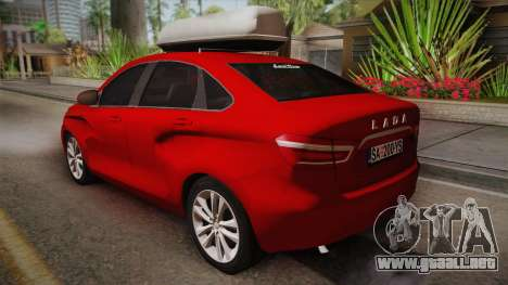 Lada Vesta Sedan para GTA San Andreas left