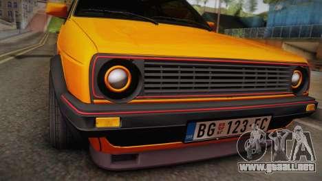 Volkswagen Golf Mk2 GTI .ILchE STYLE. para la visión correcta GTA San Andreas