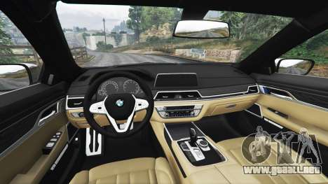 GTA 5 BMW 750i xDrive M Sport (G11) [add-on] vista lateral derecha