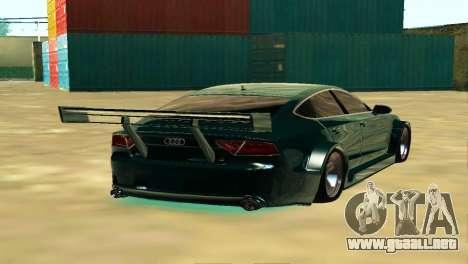 AUDI A7 SPORTS para GTA San Andreas vista posterior izquierda