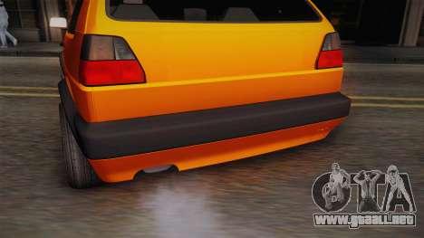 Volkswagen Golf Mk2 GTI .ILchE STYLE. para vista lateral GTA San Andreas