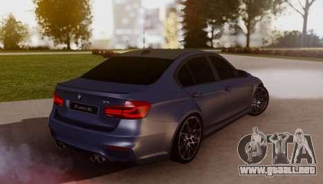 BMW M3 F30 30 Jahre para GTA San Andreas left