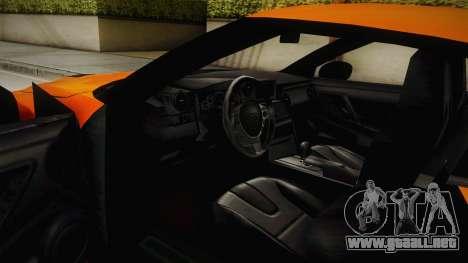 Nissan GT-R R35 para visión interna GTA San Andreas