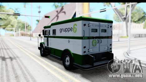 GTA 5 Stockade v1 IVF para GTA San Andreas left