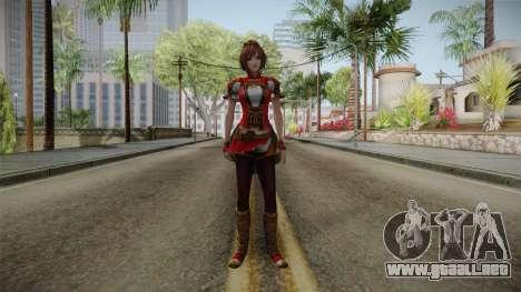 Dynasty Warriors 8 - Sun ShangXiang Remade para GTA San Andreas segunda pantalla