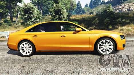 GTA 5 Audi A8 L (D4) 2013 [replace] vista lateral izquierda