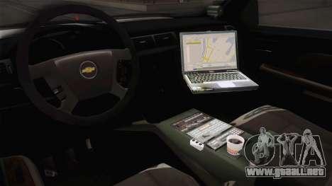 Chevrolet Silverado 2009 SA DOT para visión interna GTA San Andreas