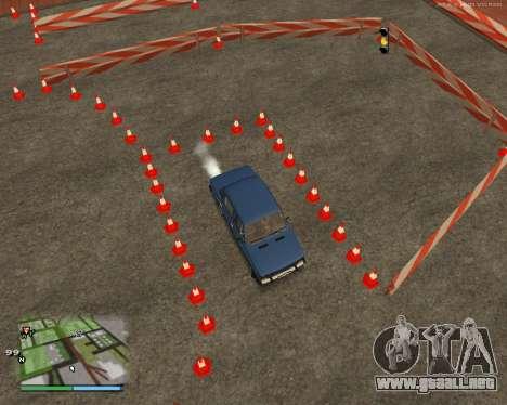 El circuito, como en la escuela de conducción para GTA San Andreas séptima pantalla