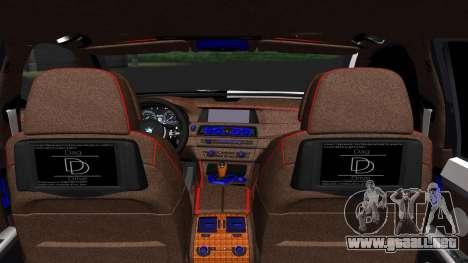 BMW 750i Smotra Kiev para GTA San Andreas vista posterior izquierda