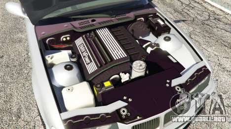 GTA 5 BMW 328i (E36) M-Sport [replace] vista lateral trasera derecha