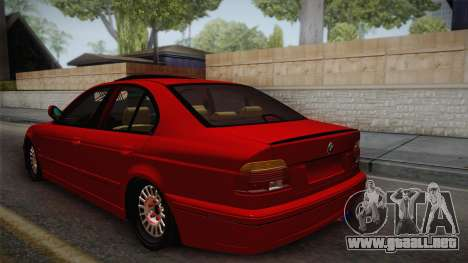 BMW 530d E39 Red Black para GTA San Andreas left