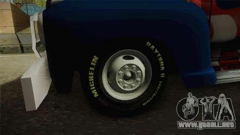 GMC 4100 1950 GRUA para GTA San Andreas vista hacia atrás