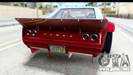 GTA 5 Declasse Tampa Drift IVF para vista inferior GTA San Andreas