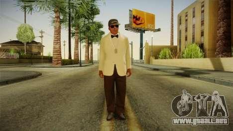 GTA 5 Franklin Tuxedo v3 para GTA San Andreas segunda pantalla