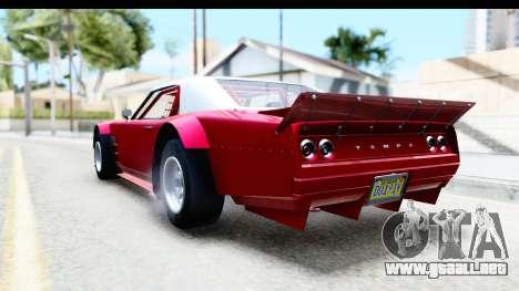GTA 5 Declasse Tampa Drift IVF para GTA San Andreas vista posterior izquierda