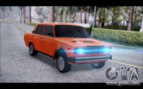 VAZ 2105 parche 2.0 para GTA San Andreas vista posterior izquierda