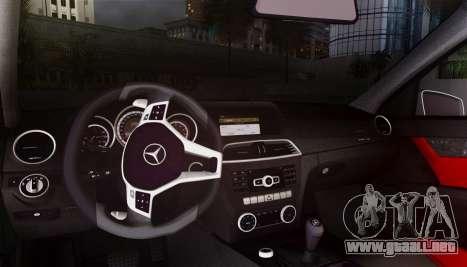 Mercedes-Benz C63 AMG w204 para visión interna GTA San Andreas