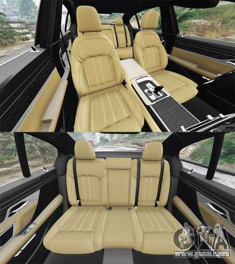 GTA 5 BMW 750i xDrive M Sport (G11) [add-on] delantero derecho vista lateral