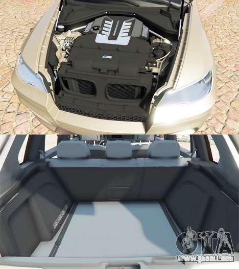 GTA 5 BMW X5 M (E70) 2013 v1.2 [add-on] vista lateral derecha