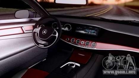 Mercedes-Benz S-Class Coupe AMG para GTA San Andreas vista hacia atrás
