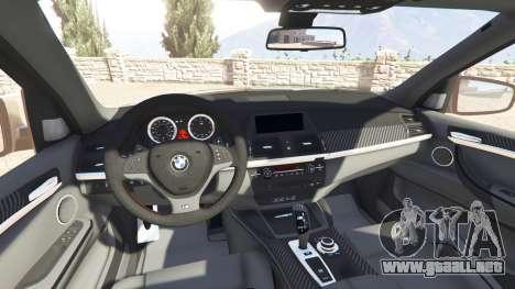 GTA 5 BMW X5 M (E70) 2013 v1.2 [add-on] delantero derecho vista lateral