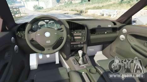 GTA 5 BMW 328i (E36) M-Sport [replace] vista lateral derecha