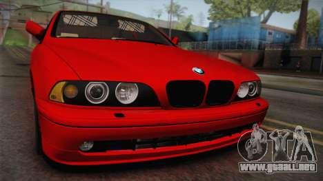 BMW 530d E39 Red Black para la visión correcta GTA San Andreas