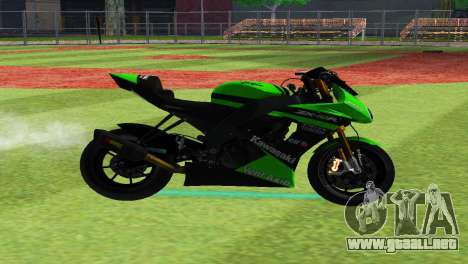 Kawasaki ZX-10RS para GTA San Andreas left