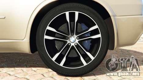 GTA 5 BMW X5 M (E70) 2013 v1.2 [add-on] vista lateral trasera derecha