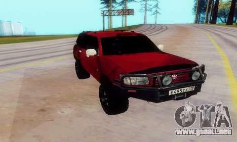 Toyota Land Cruiser 105 para GTA San Andreas left