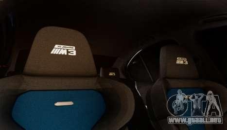 BMW M3 F30 30 Jahre para visión interna GTA San Andreas