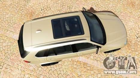 GTA 5 BMW X5 M (E70) 2013 v1.2 [add-on] vista trasera