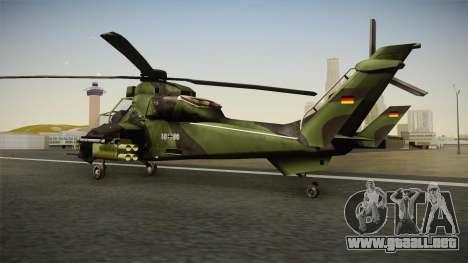 Eurocopter Tiger Extra Skin para GTA San Andreas left