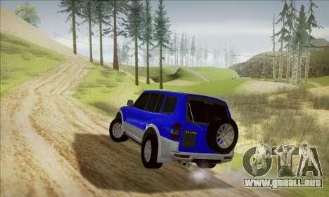 Mitsubishi Pajero 3 Beta para GTA San Andreas vista posterior izquierda
