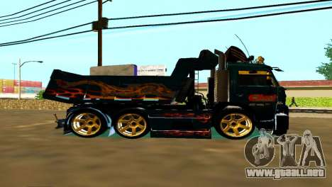 KaMAZ 65115 TURBO SAMOSVAL para GTA San Andreas left