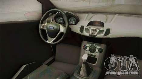 Ford Fiesta 2009 para visión interna GTA San Andreas