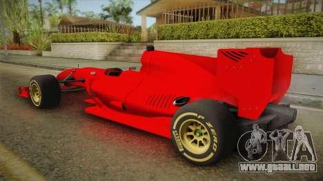 Lotus F1 T125 para GTA San Andreas left