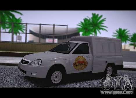 Lada Priora Budka para GTA San Andreas vista posterior izquierda