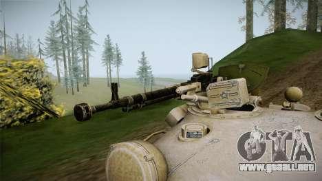T-62 Desert Camo v1 para GTA San Andreas vista hacia atrás