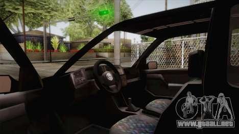 Volkswagen Golf Mk3 Blyatmobile para la visión correcta GTA San Andreas
