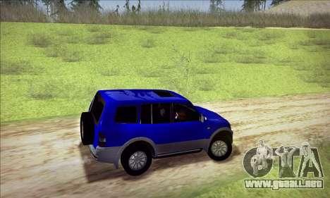 Mitsubishi Pajero 3 Beta para GTA San Andreas vista hacia atrás