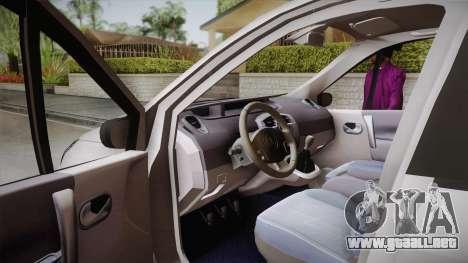 Renault Scenic II para la visión correcta GTA San Andreas