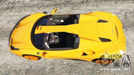GTA 5 Ferrari 488 Speedster 2016 [replace] vista trasera