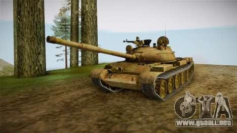 T-62 Desert Camo v3 para la visión correcta GTA San Andreas